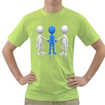Three Way Hand Shake Pc 1600 Clr Green T-Shirt