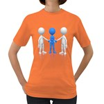 Three Way Hand Shake Pc 1600 Clr Women s Dark T-Shirt