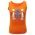 Three Way Hand Shake Pc 1600 Clr Women s Dark Tank Top