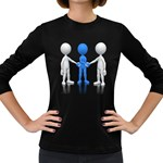 Three Way Hand Shake Pc 1600 Clr Women s Long Sleeve Dark T-Shirt
