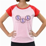 Three Running In Gear Pc 1600 Clr Women s Cap Sleeve T-Shirt