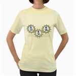Three Running In Gear Pc 1600 Clr Women s Yellow T-Shirt