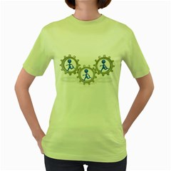 Three Running In Gear Pc 1600 Clr Women s Green T Front