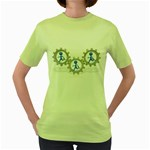 Three Running In Gear Pc 1600 Clr Women s Green T-Shirt