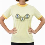 Three Running In Gear Pc 1600 Clr Women s Fitted Ringer T-Shirt
