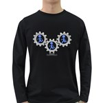 Three Running In Gear Pc 1600 Clr Long Sleeve Dark T-Shirt