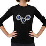 Three Running In Gear Pc 1600 Clr Women s Long Sleeve Dark T-Shirt