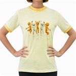 Team Celebration Pc 1600 Clr Women s Fitted Ringer T-Shirt