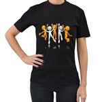Team Celebration Pc 1600 Clr Women s Black T-Shirt (Two Sides)