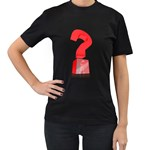 Stuck In Question Pc 1600 Clr Women s Black T Front