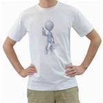 Stick Figure Thumbs Up 1600 Clr White T-Shirt