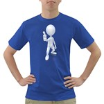 Stick Figure Thumbs Up 1600 Clr Dark T-Shirt