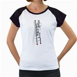 Stick Figure Climbing Ladder 1600 Clr Women s Cap Sleeve T