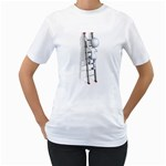 Stick Figure Climbing Ladder 1600 Clr Women s T-Shirt