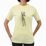 Stick Figure Climbing Ladder 1600 Clr Women s Yellow T-Shirt