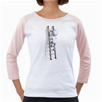 Stick Figure Climbing Ladder 1600 Clr Girly Raglan
