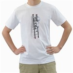 Stick Figure Climbing Ladder 1600 Clr White T-Shirt