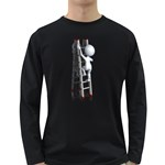 Stick Figure Climbing Ladder 1600 Clr Long Sleeve Dark T-Shirt
