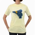 Single File Line Pc 1600 Clr Women s Yellow T-Shirt