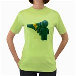 Single File Line Pc 1600 Clr Women s Green T-Shirt