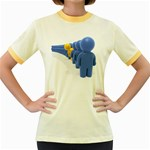 Single File Line Pc 1600 Clr Women s Fitted Ringer T-Shirt