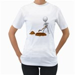 Shoveling Hole Pc 1600 Clr Women s T-Shirt