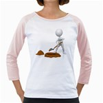 Shoveling Hole Pc 1600 Clr Girly Raglan