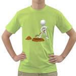 Shoveling Hole Pc 1600 Clr Green T-Shirt