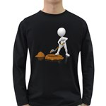 Shoveling Hole Pc 1600 Clr Long Sleeve Dark T-Shirt