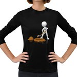 Shoveling Hole Pc 1600 Clr Women s Long Sleeve Dark T-Shirt