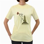 Shout From Roof 1600 Clr Women s Yellow T-Shirt