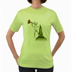 Shout From Roof 1600 Clr Women s Green T-Shirt