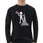 Shout From Roof 1600 Clr Long Sleeve Dark T-Shirt