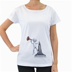 Shout From Roof 1600 Clr Maternity White T-Shirt
