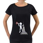 Shout From Roof 1600 Clr Maternity Black T-Shirt