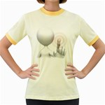 Screen Press Pc 1600 Clr Women s Fitted Ringer T-Shirt