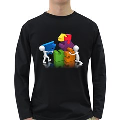 Puzzle Pieces House Teamwork 1600 Clr Long Sleeve Dark T Front