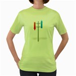 Heaven Hell Traffic Sign Pc 1600 Clr Women s Green T-Shirt
