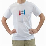 Heaven Hell Traffic Sign Pc 1600 Clr White T-Shirt