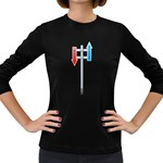 Heaven Hell Traffic Sign Pc 1600 Clr Women s Long Sleeve Dark T-Shirt