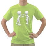 Heated Conversation Pc Green T-Shirt