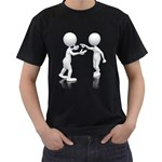 Heated Conversation Pc Black T-Shirt (Two Sides)