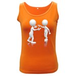 Heated Conversation Pc Women s Dark Tank Top