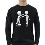 Heated Conversation Pc Long Sleeve Dark T-Shirt