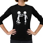Heated Conversation Pc Women s Long Sleeve Dark T-Shirt