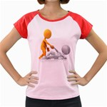 Lend A Helping Hand 1600 Clr Women s Cap Sleeve T-Shirt