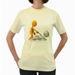 Lend A Helping Hand 1600 Clr Women s Yellow T-Shirt
