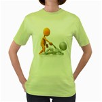 Lend A Helping Hand 1600 Clr Women s Green T-Shirt