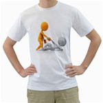 Lend A Helping Hand 1600 Clr White T-Shirt