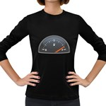 Fuel Gauge Full 1600 Clr Women s Long Sleeve Dark T-Shirt